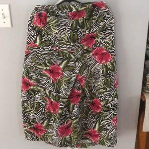 2/$20 TORRID SZ 20 Tropical & Zebra Halter Dress